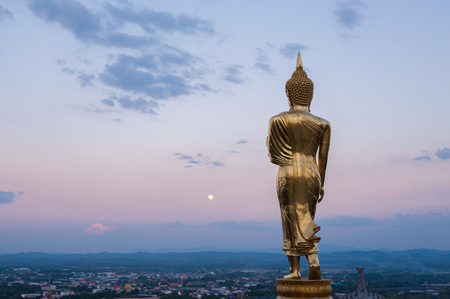 a righteous person: Buddha statue on the hill at Wat Khao Noi, nan
