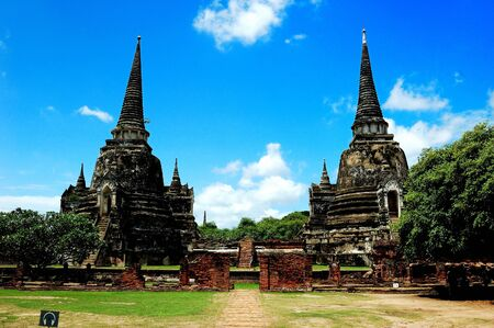 Ancient capital of thailand. Stock Photo