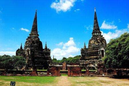 Ancient capital of thailand. Stock Photo
