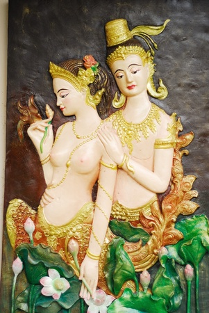 oration: art work in the wall with thailand style