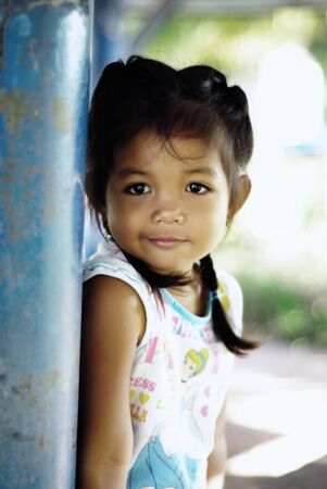 cute kid doing nice posing