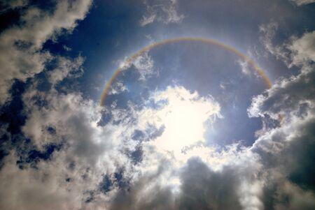 stupendous: Strange phenomenon in the sky Stock Photo