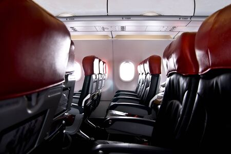 landscape of seat inside the  plane Editorial