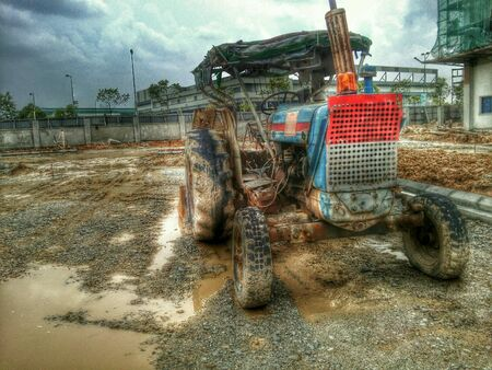 HDR of construction site taken and processing by my mobile.