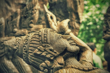 Thai style wooden carving