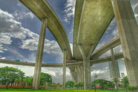 HDR of expressway in thailand Stock Photo