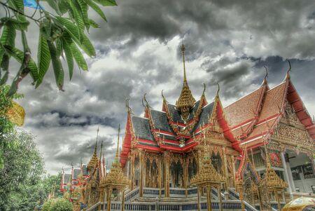 Beautiful temple in bangkok thailand.