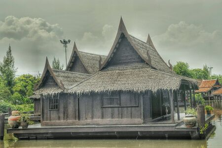 Old style of thai house Stock Photo