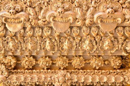 Carved plaster walls