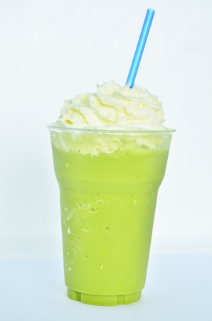 Cold green tea smoothie  Stock Photo