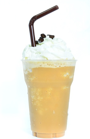 Blended iced coffee whipped cream