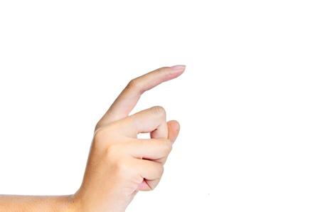 dictatorial: one finger