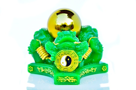 Chinese feng shui lucky money frog photo