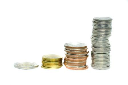 Coins of A bar graph. Stock Photo - 17550209