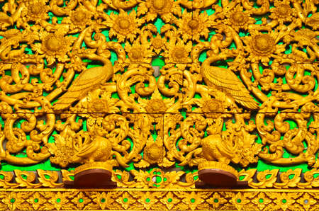 gables: Carved gables in lamphun,Thailand.