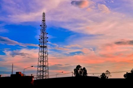 Telecommunications towers Zdjęcie Seryjne
