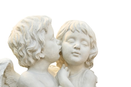 sculpture of angel boy and  girl