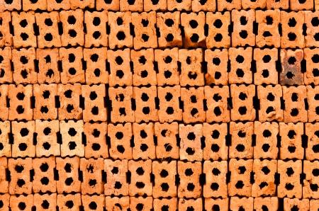 protection of arable land: Stack of orange Bricks