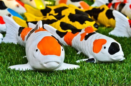 Japanese Koi Carp Figurines photo