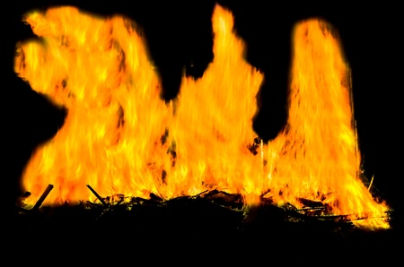 Fire flames with reflection Stock Photo - 18365010