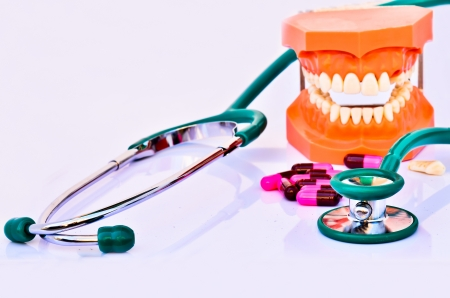 Dental treatment Stock Photo