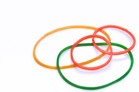 Rubber Band on white background