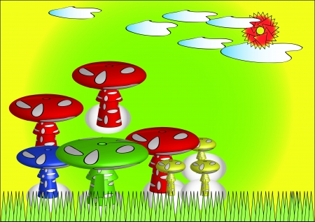 spore: Mushrooms illustrations Illustration