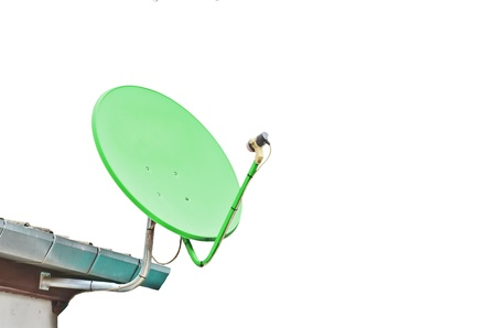 Satellite dish on white background