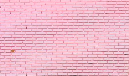 wall of pink bricks