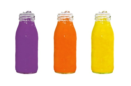 Bottles with juice photo