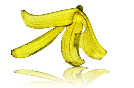 banana peel isolate photo