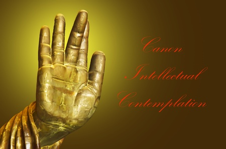 Hand Buddha Postcard photo