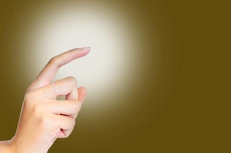 dictatorial: one finger light