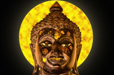 chaplain: buddha head on full moon