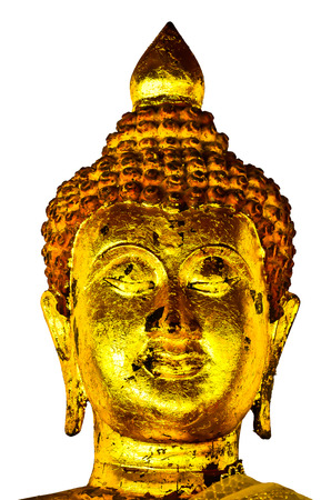 Ancient Buddha face Thailand photo