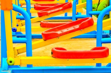 jardin de infantes: Zona de juegos de colores para los ni�os