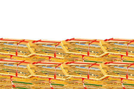 Waste carton boxes background photo