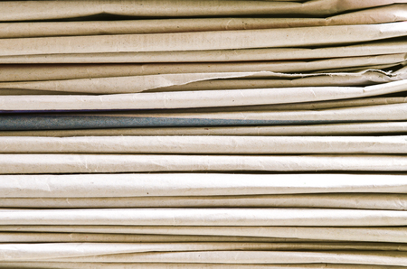 pile of newspapers: Detail of a pile newspapers Stock Photo