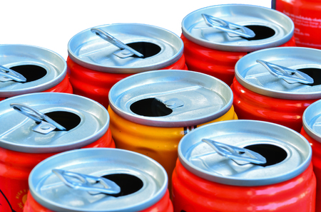 Empty recycle cans photo
