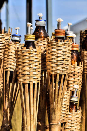 gril:  bamboo torches