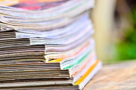 Pile of magazines Stock Photo - 23908824