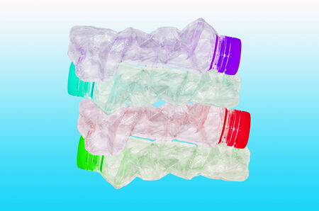 muti: recycling or stack of muti colour plastic bottles