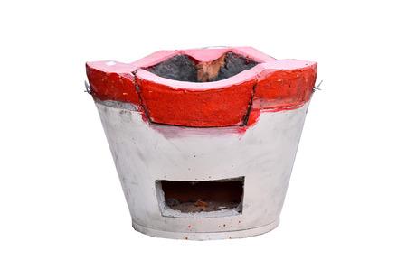 stoking: Charcoal stove