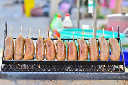 Thai Style Grilled Sausage in Thailand photo