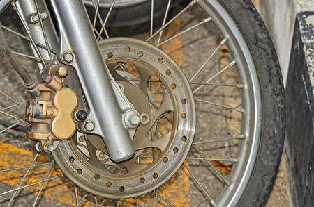 Front wheel motorcycle photo