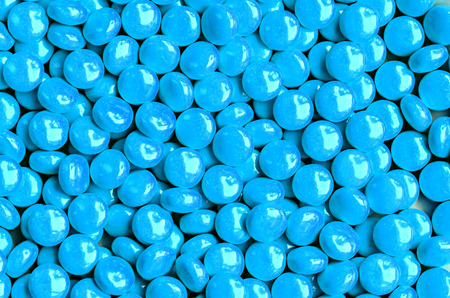light blue sweet candies photo
