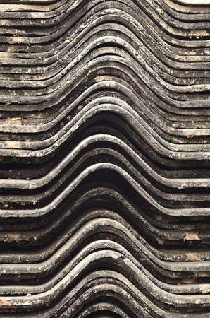 Stack of roofing tiles Stock Photo