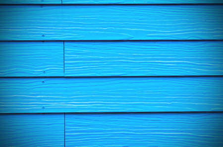 background of new blue painted wood Stock Photo