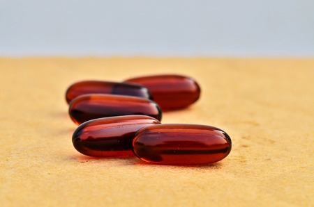 Bright brown capsules with shallow focus photo