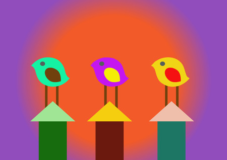 Abstract Birds Vector